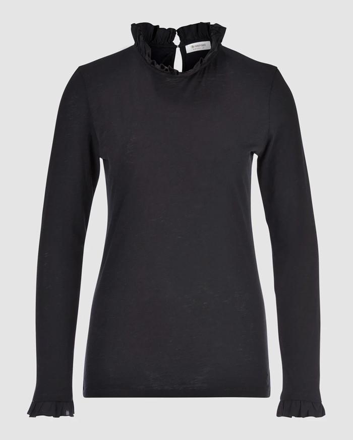 Rich&Royal Langarm Shirt - Schwarz