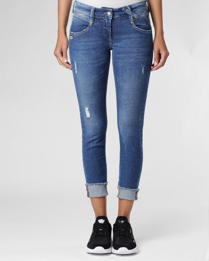 Gang Jeans Nena Cropped - Mittelblau