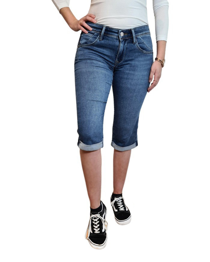 Mavi Shorts Marina - Mittelblau